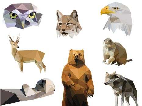 Animaux triangulaires by Geausselain