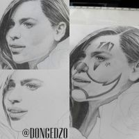 Emilia Clarke Chicano clown girl ver. by DonGedzo