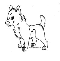 Free Pup Lineart by MichelsAdoptions
