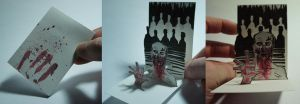 ACEO : Zombie Pop Up Card by Devin-Francisco