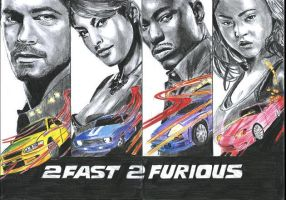 Fast And Furious by 100PourCentDessins