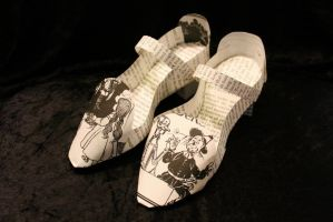 Ruby Slippers Book Sculpture by wetcanvas