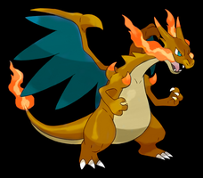 Shiny Mega Charizard X by BLZofOZZ