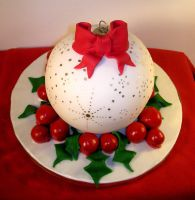 X-mas Ball cake by bahgee