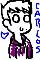 Drawing of Carlos on my iPhone by sclirada