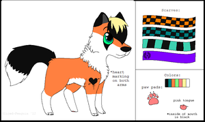 Foxsona Reference Sheet 2012 by Sliced-Penguin