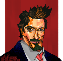 Robert Downey Jr. Caricature by BonnyJohn