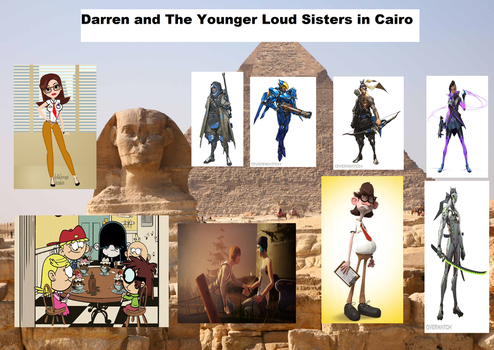 Darren and The Younger Loud Sisters in Cairo by Paula712