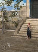 Corvena-Praying-in-front-of-stairs by dreams2media