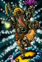 Ganesha Coloured by chrisxart