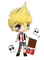Punk Chocolate Boy: Minichib Commish by YamPuff