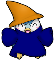 PC: Dark Mage Piplup by JadenFLAWLESSx