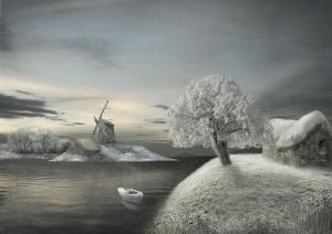 Winter scene by Notvitruvian
