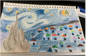 My 1st Attempt Draw Vincent van Gogh-Starry Night by CardCaptorMiele