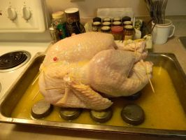 Thanksgiving Orange and Sage Stuffed Turkey Prep 1 by SEMC