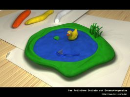 The brave duck on exploration by hellstormde