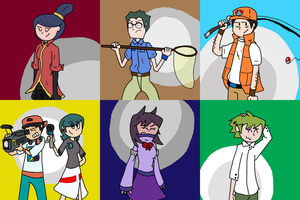 Nuzlocke Side Characters Group Shot by Kame-Ghost