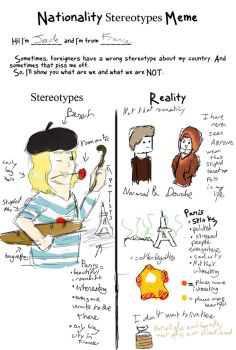 French stereotype meme by Slynia