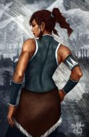 Avatar Korra by thewordlesssignature