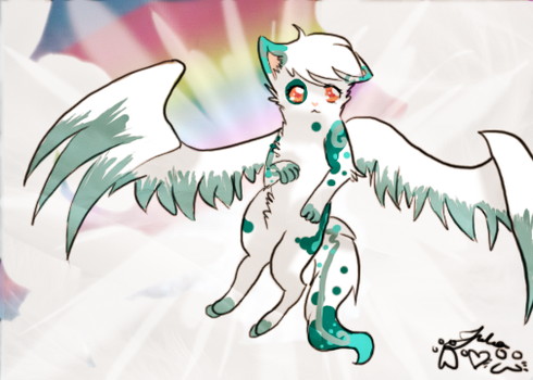 Fly Feather by Griffin-Kitten