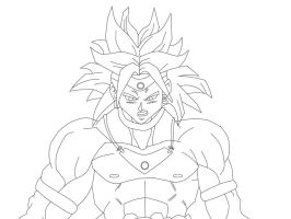 Broly Line art 2 by The-Angels-Sanctuary