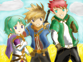 Golden Sun DS Casts. The Crew- by Rindiny