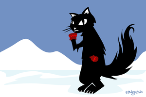 Kitten With Mittens by pinguino