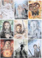 Lord of The Rings portraits by Timedancer