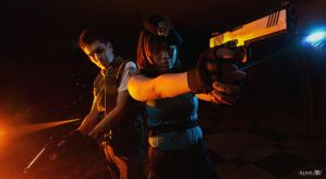 Chris Redfield Jill Valentine by arthur1042