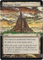 Magic Card Alteration: Reliquary Tower by Ondal-the-Fool