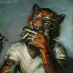 Smoking Tiger by wahay