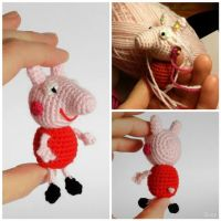 Peppa Pig Mini Amigurumi by SuniMam