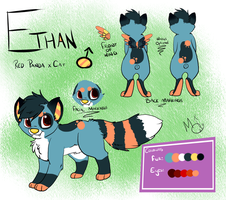 Ethan Redesign + Reference (commission) by Mikkimoo27