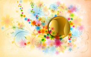 Soft Petals with Gold Sphere by StarwaltDesign