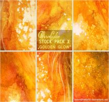 GOLDEN GLOW - WATERCOLOR STOCK PACK X by AuroraWienhold