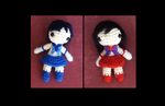 Mini Sailor Senshi: Mercury and Mars amigurumi by Ulvkatt