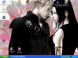 Cloud x Tifa desktop by ValondraDeva