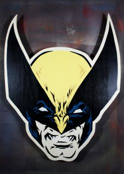 Wolverine on cut wood by epyon5