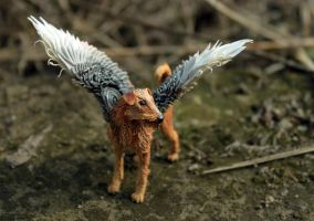 Winged Airedale by hontor