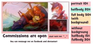 Commission are open! by Nieris