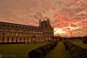 Louvre at sunset by koryna
