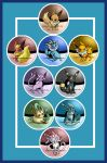 Eeveelution Buttons by Lyndarsia