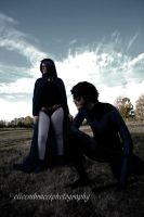 Raven and Nightwing by summerjasmine