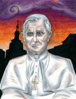 His Holiness, Pope Benedict XVI (Coloured) by Oswulf
