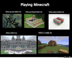 Playing Minecraft by cosenza987