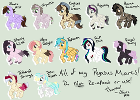 All of my Pegasi Mares by x-Short-Hilt-x