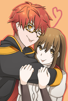 707 and MC by Curryn-chan