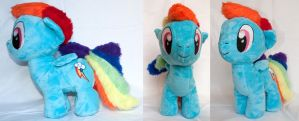 Rainbow Dash - Chibi/Filly Plush by TadStone