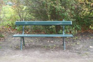 plain green bench by priesteres-stock