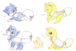 Fairpup Auction Blue and Yellow [CLOSED] by CoffeeCupPup
